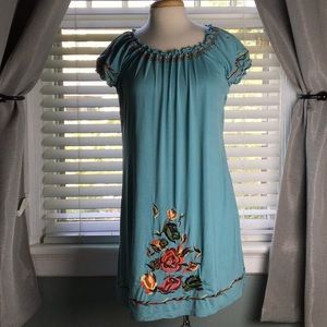 Angie Embroidered knit dress